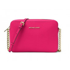 Michael Kors jet set large crossbody ultra pink